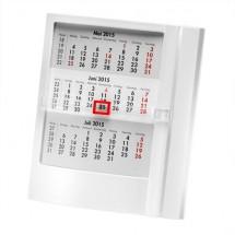 Tischkalender 1-sprachig - weiß/weiß