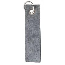 Polyesterfilz Schlüsselband, geschlauft, groß - hellgraumeliert