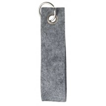 Polyesterfilz Schlüsselband, geschlauft, klein - hellgraumeliert