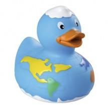 Quietsche-Ente Welt - blau