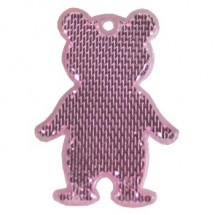 Fußgängerreflektor Bär - rosa