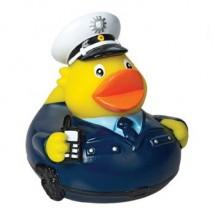Quietsche-Ente Polizist - blau