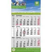 1-Block-Wandkalender 2Plus  '1-sprachig'-schwarz