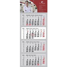 "Mehrblock-Wandkalender ""Clever 4""-schwarz"