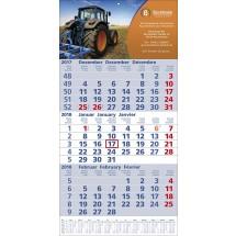 """Papierwandkalender """"Top 12"""" - blau / rot"""