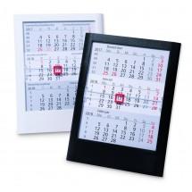 Kunststoff-Tischkalender Standard  '6-sprachig'-schwarz