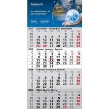 """1-Block-Wandkalender """"Quattro""""-schwarz"""