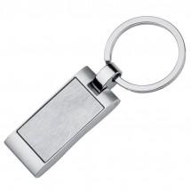 Metall-Schlüsselanhänger Welle - grau
