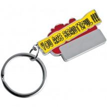 Schlüsselanhänger You are beautiful!!! - rot