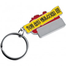 Schlüsselanhänger You are welcome!!! - rot