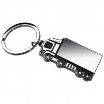 Metall-Schlüsselanhänger LKW - grau