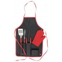BBQ Set ''Axon'' - schwarz/rot
