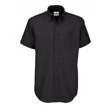Shirt Oxford Short Sleeve /Men - Black
