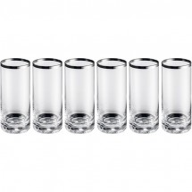 Set aus 6 Longdrinkgläsern - transparent