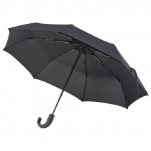 Ferraghini Taschenschirm mit Krücke - schwarz