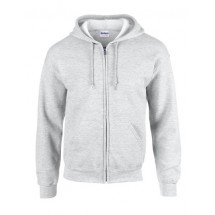 Heavy Blend? Full Zip Hooded Sweatshirt - Ash (Heather)