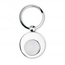 Schlüsselring mit Münzhalter EURING - silber glänzend