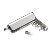 Taschenlampe mit Werkzeug ALUTOOL - transparent grau