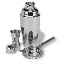 Cocktail-Set mit Shaker FIZZ - silber glänzend