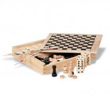 Spielesammlung in Holzbox TRIKES - holzfarben