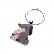 Schlüsselanhänger DOG & DOGGY - beige, braun