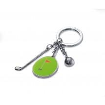 Schlüsselanhänger HOLE IN ONE - grün, rot