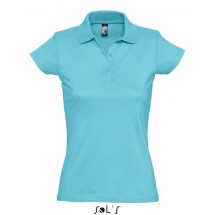 Womens Polo Shirt Prescott - Atoll Blue