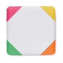 4-Farb-Textmarker SQUARIE - weiß