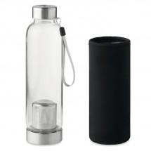 Einwandige Trinkflasche UTAH TEA - schwarz