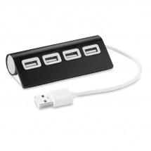 4 Port USB Hub ALUHUB - schwarz