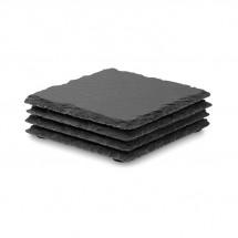 Untersetzer-Set SLATE4 - schwarz