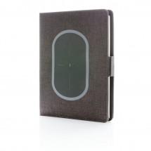 Air Notizbuchcover mit kabelloser Aufladefunktion, schwarz