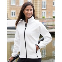 Ladies Printable Soft Shell Jacket - Black/Black