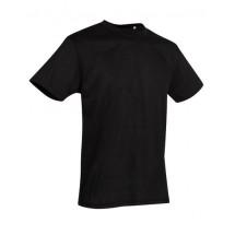 Crew Neck T-Shirt Active Cotton Touch - Black Opal