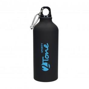"""Aluminiumflasche """"Sporty-2Tone"""" schwarz 0,6 l"""