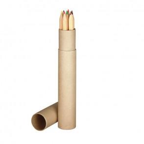 7 lange Holz-Buntstifte