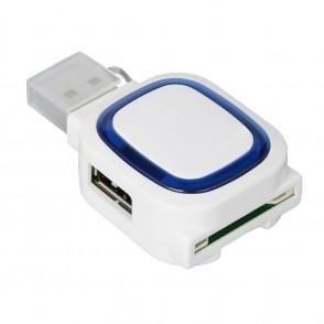USB-Hub mit 2 Anschlüssen und Speicherkartenlesege