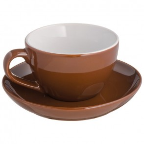 Tasse mit Untersetzer