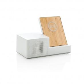 Birch 5W Wireless Charger und Lautsprecher, weiß