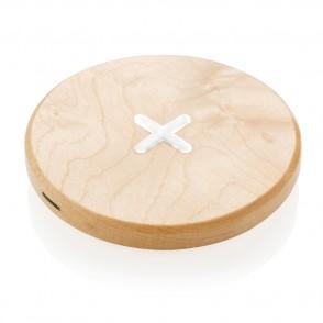 5W Wirless-Charger aus Holz, braun