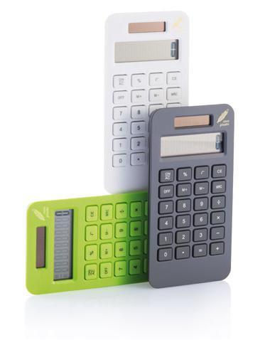 Drei bunte Taschenrechner Werbeartikel