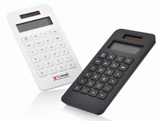 Schwarzer und weisser Tisch-Taschenrechner