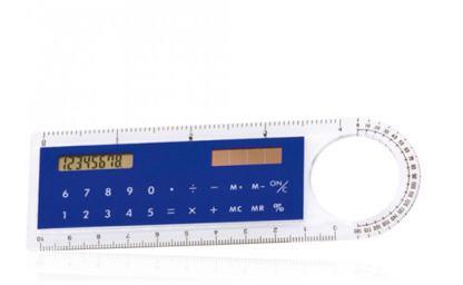 Lineal mit Taschenrechner als Werbeartikel