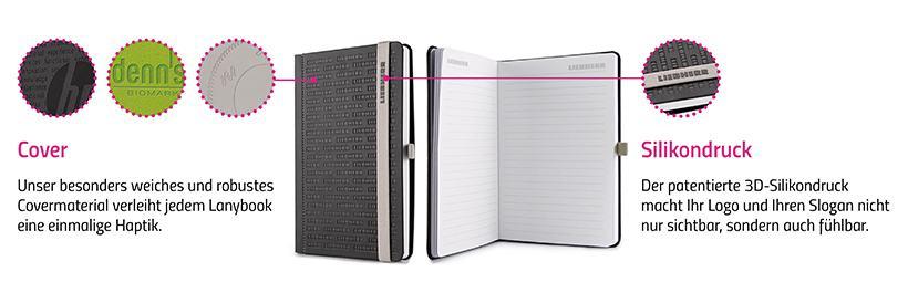 Individuelle Lanybook Werbemittel im Corporate Design