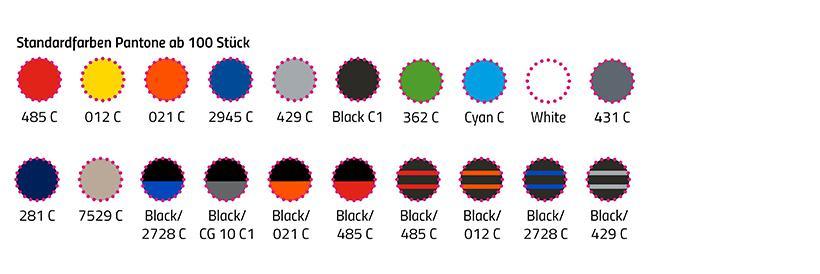 Standardfarben des Lanybook Werbe-Notizbuchs