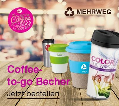 Coffee-to-go Becher mit Logo