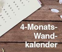 4-Monats-Wandkalender mit Firmenlogo
