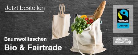 Bio-Fairtrade Baumwolltaschen