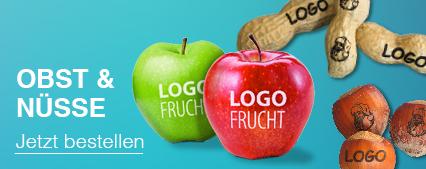 Logo-Obst als Werbeartikel